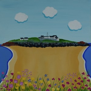 Painting of Hilbre Island, Wirral