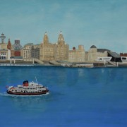 Painting of Liverpool skyline