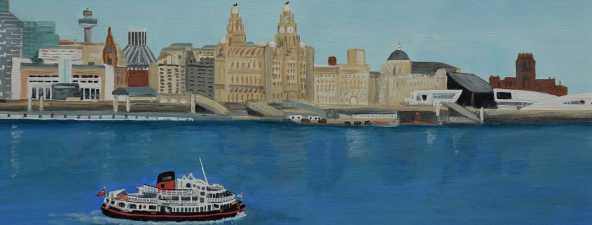 Painting of Liverpool skyline